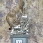 Idaho lifesize cougar mount